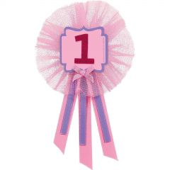 1st Birthday Girl Confetti Paper Treat Bags (Pack of 6)