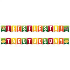 Let's Fiesta Taco Tuesday Pennant Banner