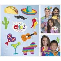 Mexican Fiesta Photo Booth Props (Pack of 10)