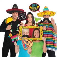 Jumbo Fiesta Photo Booth Props (Pack of 12)