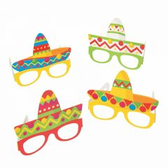 Sombrero Party Glasses (Pack of 12)