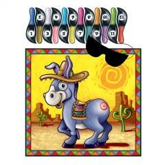 Fiesta Pin the Tail Donkey Party Game