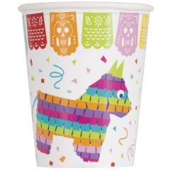 Mexican Fiesta Paper Cups (Pack of 8)