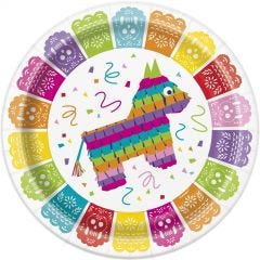 Mexican Fiesta Large Paper Plates (Pack of 8)