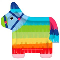 Fiesta Donkey Large Paper Plates (Pack of 8)
