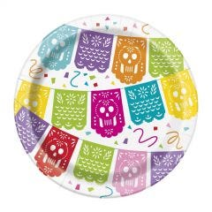 Mexican Fiesta Small Paper Plates (Pack of 8)