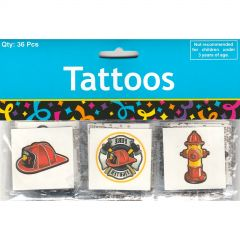 Firefighter Tattoos (Pack of 36)