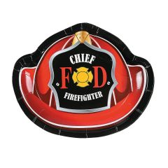 Firefighter Party Small Paper Plates (Pack of 8)
