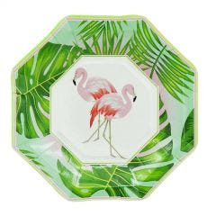Flaminglo Tropicana Small Paper Plates (Pack of 8)