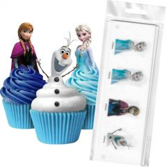 Frozen Edible Wafer Cupcake Toppers (Pack of 16)