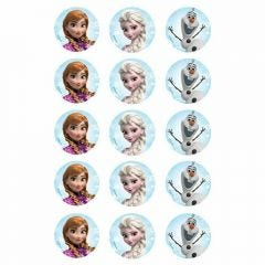 Frozen Edible Cupcake Decorations (Pack of 15)