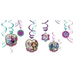Frozen Swirl Decorations (Pack of 12)