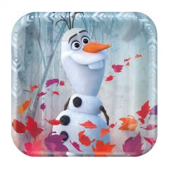 Frozen Small Paper Plates (Pack of 8)