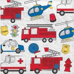 First Responders Large Napkins / Serviettes (Pack of 16)