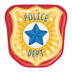 First Responders Police Small Paper Plates (Pack of 8)