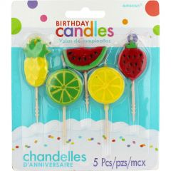 Summer Fruit Candles (Pack of 5)