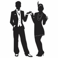 Gangster 20's Silhouettes Cutout Decorations (Set of 2)