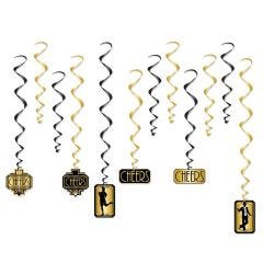 Great 20's Swirl Decorations (Pack of 12)