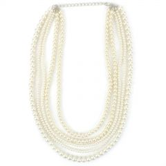 Pearl Beaded Necklaces (Pack of 12)