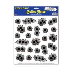Bullet Hole Stickers (Sheet of 24)