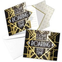 Pack of 8 Roaring 20s Invitations.