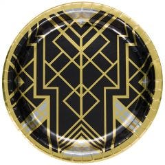 Roaring 20s Large Paper Plates 25cm (Pack of 8)