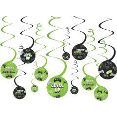 Level Swirl Decorations (Pack of 12)