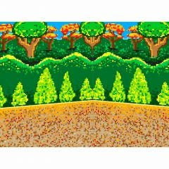 Gaming 8-Bit Forest Backdrop