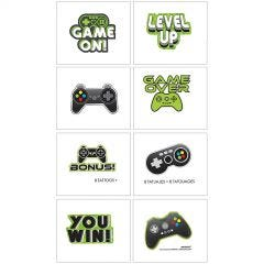 Level Up Tattoos (Pack of 8)