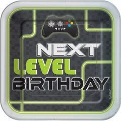 Level Up Large Paper Plates (Pack of 8)
