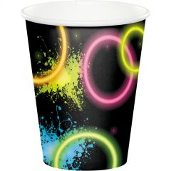 Glow Party Paper Cups (Pack of 8)