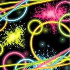 Glow Party Small Napkins / Serviettes (Pack of 16)