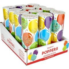 Confetti Party Poppers (Pack of 12)