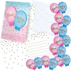 Gender Reveal Party Invitations (Pack of 8)