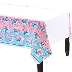Gender Reveal Baby Shower Plastic Tablecloth