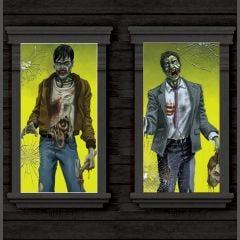 Pack of 2 Zombie Window Decorations