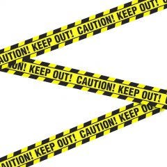 Caution Zombies Party Tape