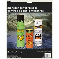 Halloween Monster Totem Centrepieces (Set of 3)
