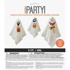 Hanging Ghost Decorations (Pack of 3)
