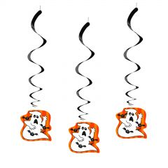 Halloween Family Friendly Swirl Decorations (Pack of 12)