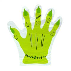 Monster Hand Cello Treat Bags (Pack of 10)