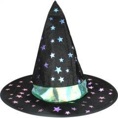 Childs Blue & Purple Starry Witch Hat
