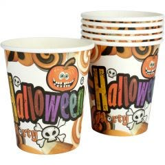 Pack of 6 Kooky Halloween Party Paper Cups