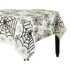 Spider Web Clear Plastic Tablecloth