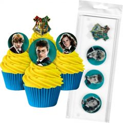 Harry Potter Edible Wafer Cupcake Toppers (Pack of 16)