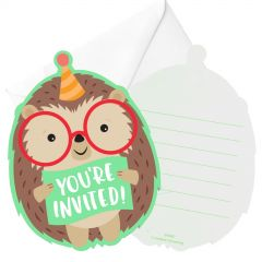 Hedgehog Party Invitations (Pack of 8)