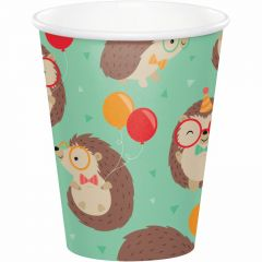 Pack of 8 Woodland Animal paper party cups