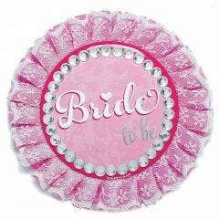 Elegant Bride to Be Deluxe Button
