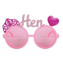 Pink Glitter Hen Party Glasses