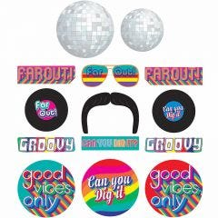 Good Vibes 70's Cutout Decorations (Pack of 30)